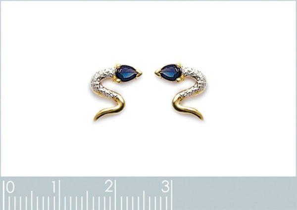 Zilveren oorbellen met salamander-20397