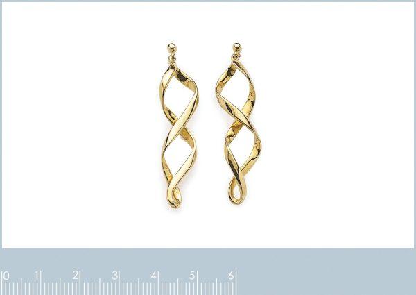 Spiraalvormige oorbellen in zilver-20258