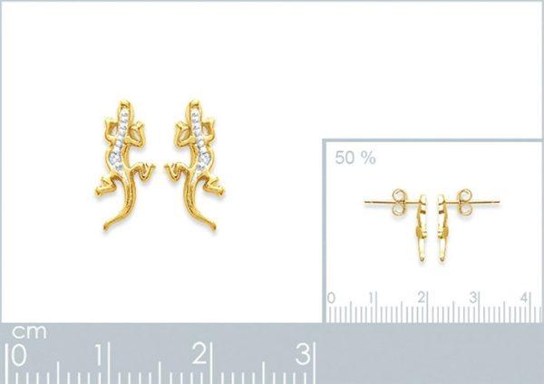 Zilveren oorbellen met salamander-20303