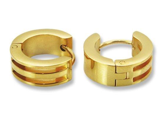Amanto Oorbellen Diante Gold - Dames - 316L Staal Goud PVD - Oorring - ∅13 mm-0