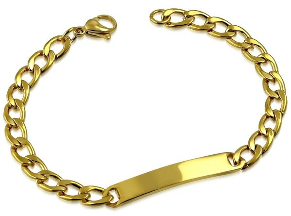 Amanto Armband Delmer Gold - Dames - 316L Staal PVD - Graveer - 6 mm - 19 cm-0