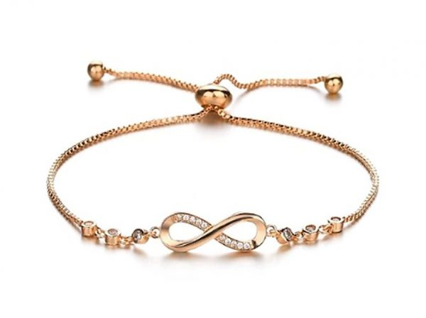 Montebello Armband Caia Infinity Gold - Dames - Messing/Verzilverd - Zirkonia -Symbool - Oneindig - Verstelbaar-0