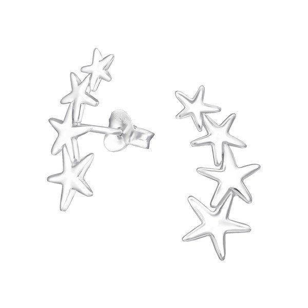 Zilveren oorbellen met salamander-20620