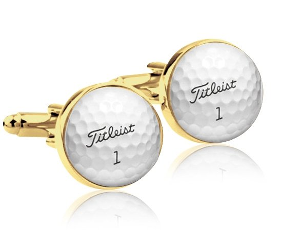 Montebello Manchetknopen Golfbal Gold - Heren - Metaal - Sport - ∅16 mm -0