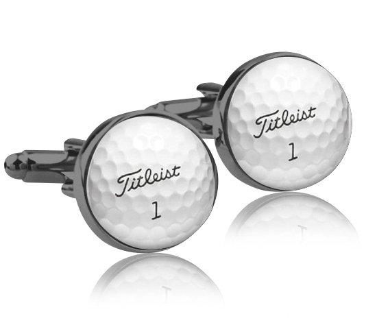 Montebello Manchetknopen Golfbal Black - Heren - Metaal - Sport - ∅16 mm -0