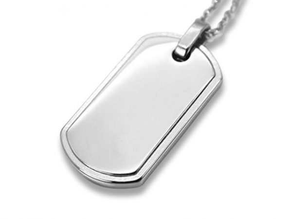 Amanto Ketting DJ - Heren - 316L Staal - Dogtag - 35 x 19 mm - 50 cm-0