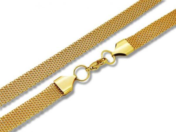 Amanto Ketting Djeni - Dames - 316L Staal Goud PVD - 8 mm - 50cm-0
