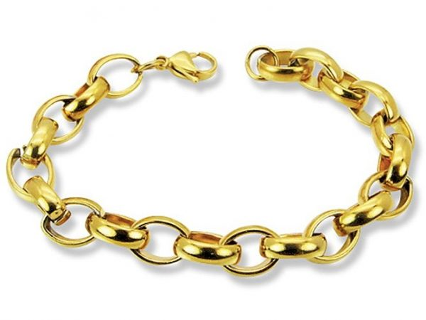 Amanto Armband Djesna Gold - Dames - 316L Staal - Ovaal - 10 mm - 20 cm-0