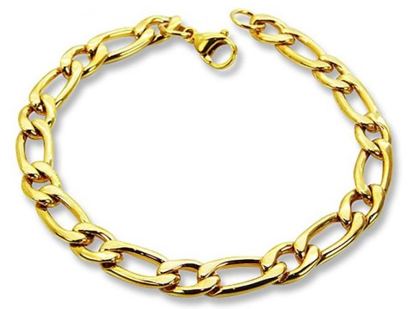 Amanto Armband Djoni Gold - Heren - 316L Staal - Schakel - 7,5 mm - 21 cm-0