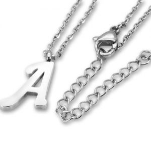 Amanto Ketting A - Unisex - 316L Staal - Letter - 16 x 10 - 50 cm-0