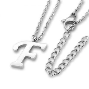 Amanto Ketting F - 316L Staal PVD - Letter - 16x10mm - 50cm-0