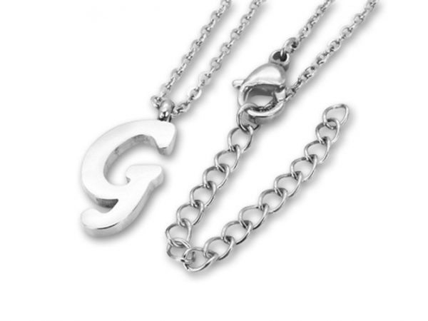 Amanto Ketting G - Unisex - 316L Staal PVD - Letter - 18 x 8 - 50 cm-0