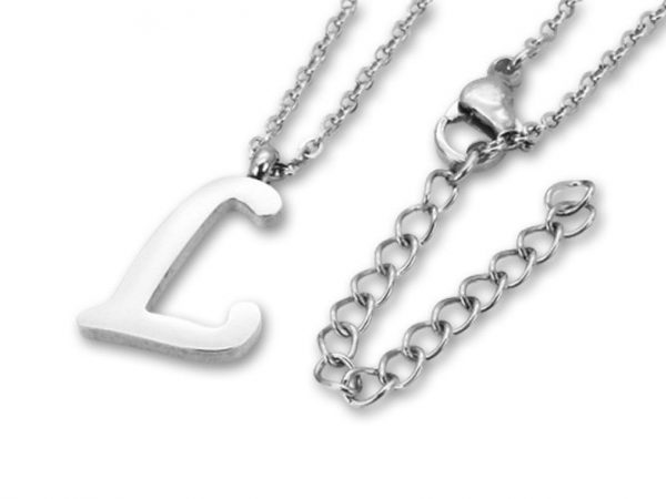 Amanto Ketting L - Unisex - 316L Staal PVD - Letter - 16 x 11 - 50 cm-0