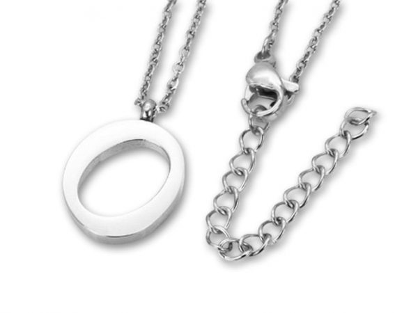 Amanto Ketting O - Unisex - 316L Staal PVD - Letter - 19 x 13 - 50 cm-0