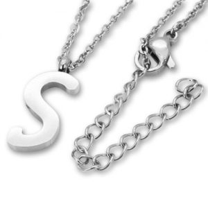 Amanto Ketting S - Unisex - 316L Staal PVD - Letter - 19 x 8 - 50 cm-0