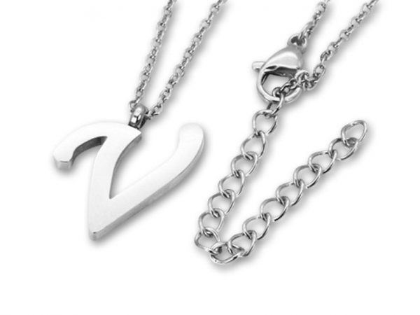 Amanto Ketting V - Unisex - 316L Staal PVD - Letter - 17 x 11 - 50 cm-0