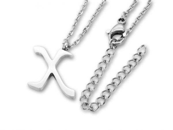 Amanto Ketting X - Unisex - 316L Staal PVD - Letter - 18 x 13 - 50 cm-0