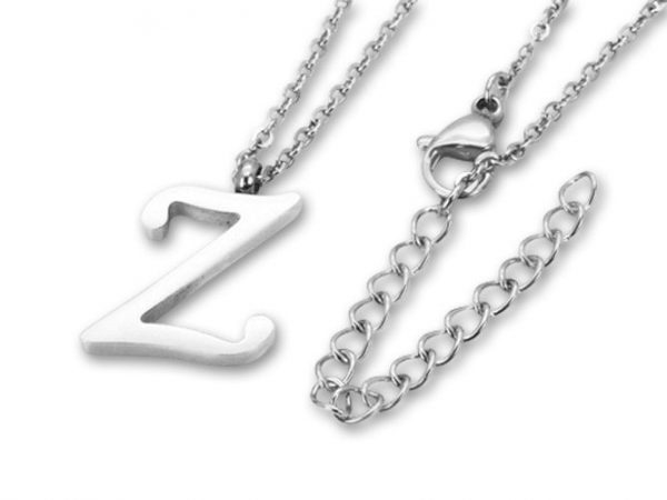 Amanto Ketting Z - Unisex - 316L Staal PVD - Letter - 18 x 13 - 50 cm-0