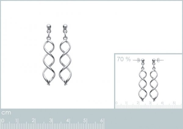 Zilveren oorbellen met salamander-21227