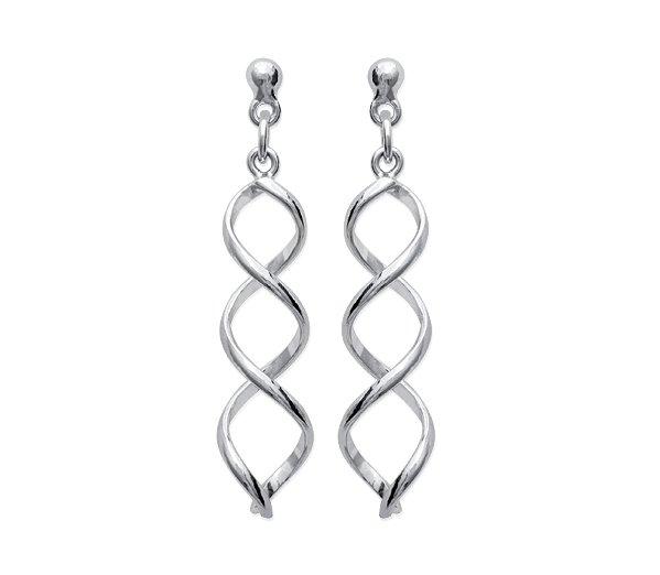 Zilveren oorbellen met salamander-21226