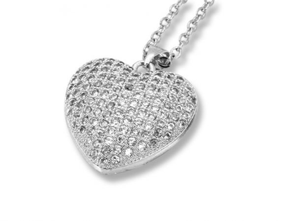 Amanto Ketting Elief - Dames - 316L Staal PVD - Zirkonia - Hart - 23x22 mm - 45 cm-0