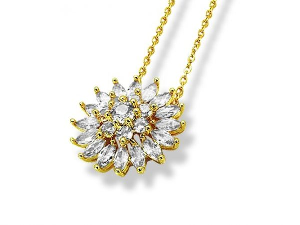Amanto Ketting Eiris Gold - Dames - 316L Staal Gold PVD - Zirkonia - ∅20 mm - 50 cm-0
