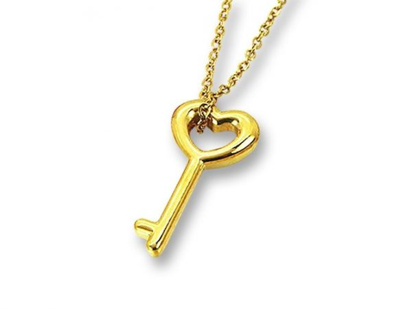 Amanto Ketting Efi Gold - Dames - 316L Staal Goud PVD - Sleutel - 23x11 mm - 45 cm-0