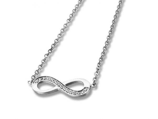 Amanto Ketting Eileen - Dames - 316L Staal PVD - Infinity - 7x20mm - 48cm-0