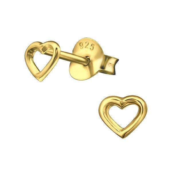 Amanto Oorbellen Elvira Gold - Dames - 925 Zilver Rosé Plated - Hart - 4x4 mm-0
