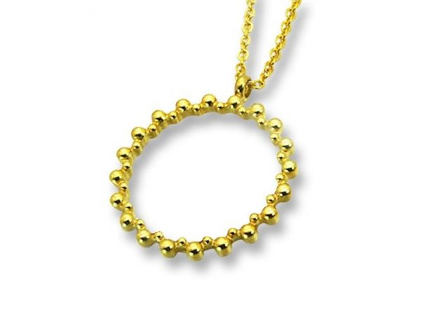 Amanto Ketting Elna Rond G - Dames - 316L Staal Goudkleurig PVD - Rond - ∅23 mm - 45 cm-0