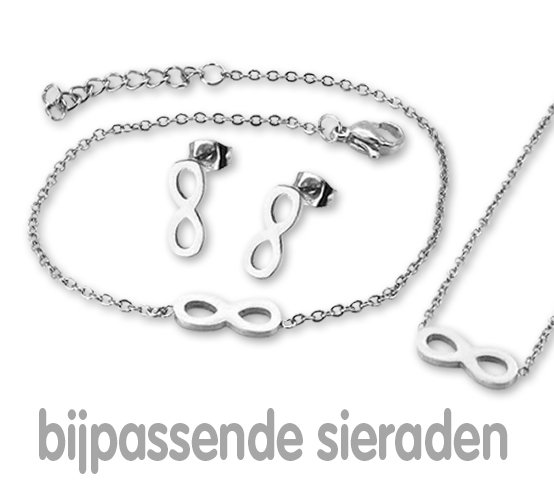 Amanto Ketting Emer - Dames - 316L Staal PVD - Infinity - 13x5 mm - 43+5 cm-21887