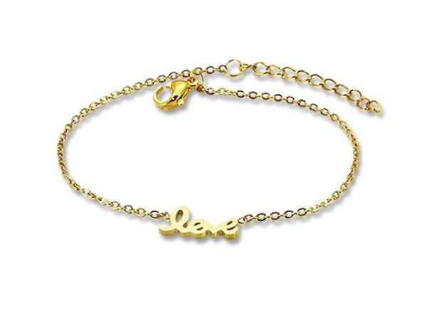 Amanto Armband Emi Gold - Dames - 316L Staal Goudkleurig PVD - Love - 18+3 cm-0