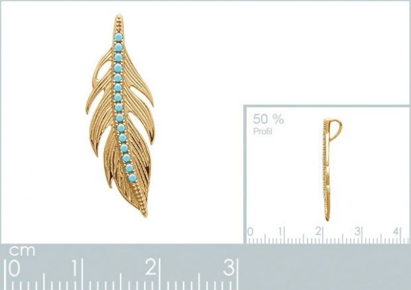 Montebello Ketting Larbi Gold - Dames - Zilver Goudverguld - 25 x 9 mm - 45 cm-22381