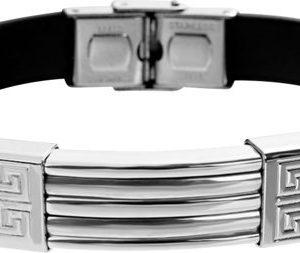 Montebello Armband Klaft - Heren - 316L Staal - Siliconen - 20.5 cm-0