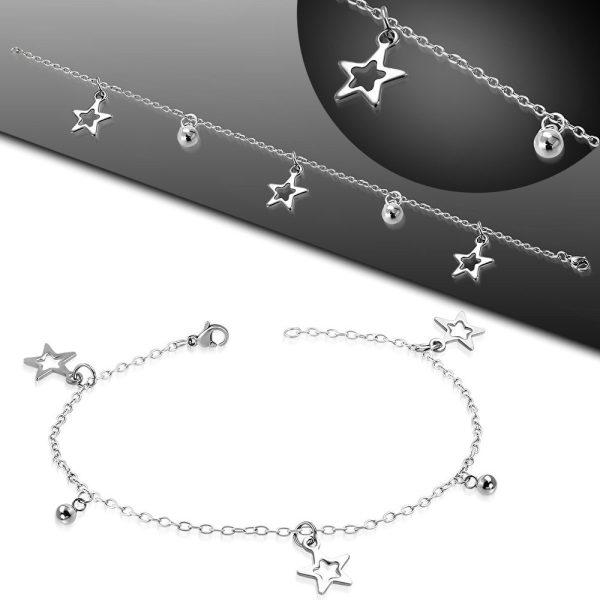 Amanto Armband Estelle Star - Dames - 316L Staal - Bedel - Ster - 17-24 cm-22688