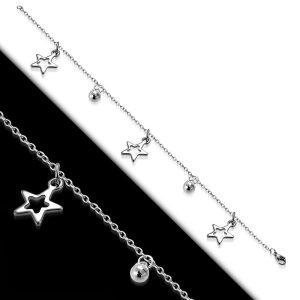 Amanto Armband Estelle Star - Dames - 316L Staal - Bedel - Ster - 17-24 cm-0