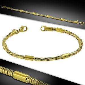 Amanto Armband Eunice - Dames - 316L Staal Goudkleurig PVD - Slang - 20 cm-0