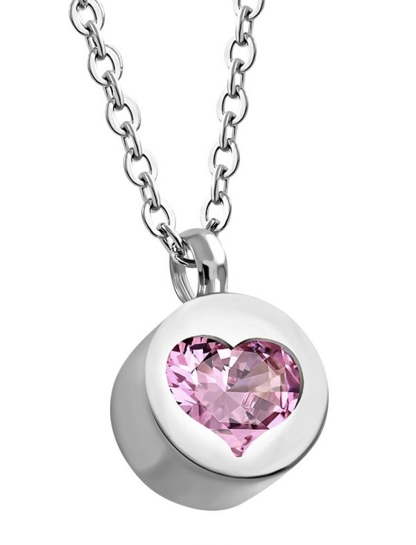 Amanto Ketting Esila Pink - Dames - 316L Staal PVD - Zirkonia - Hart - 45 cm-0
