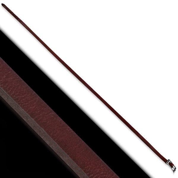 Amanto Armband Farran C - Leer - Bruin - Wikkel - 8mm - Aanpasbaar-23370