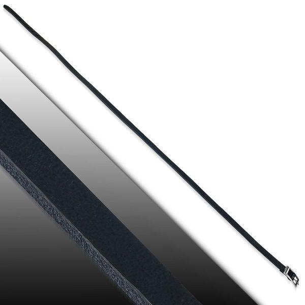 Amanto Armband Farran D - Heren - Leer - Zwart - Wikkel - 8 mm - Aanpasbaar (max.60 cm)-23421