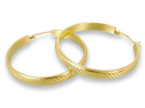 Amanto Oorbellen Destiny Gold L - Dames - 316L Staal PVD - Oorring - 5,5 x 53 mm-0