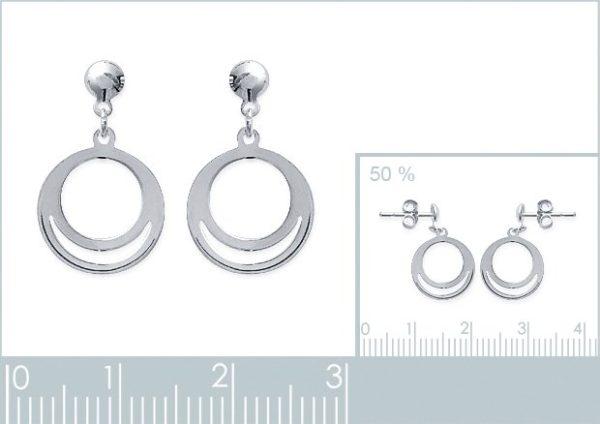 Amanto Oorbellen Fitou - Dames - 925 Zilver - Cirkel - 11x15 mm-24118