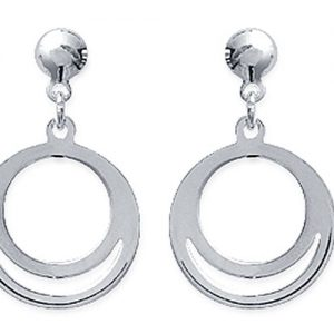 Amanto Oorbellen Fitou - Dames - 925 Zilver - Cirkel - 11x15 mm-0