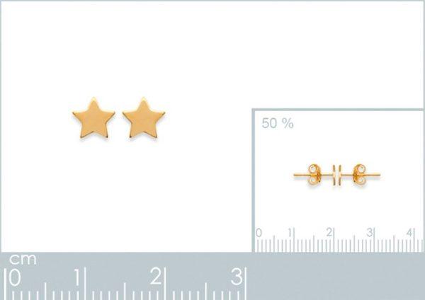 Amanto Oorbellen Finia Small Gold - Dames - 925 Zilver Goudverguld - Ster - 5x5 mm-24027