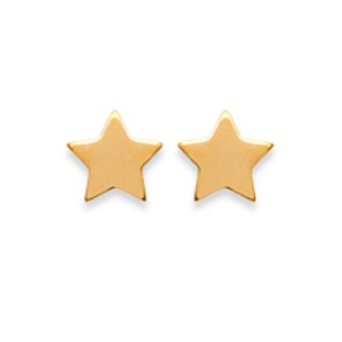 Amanto Oorbellen Finia Small Gold - Dames - 925 Zilver Goudverguld - Ster - 5x5 mm-0