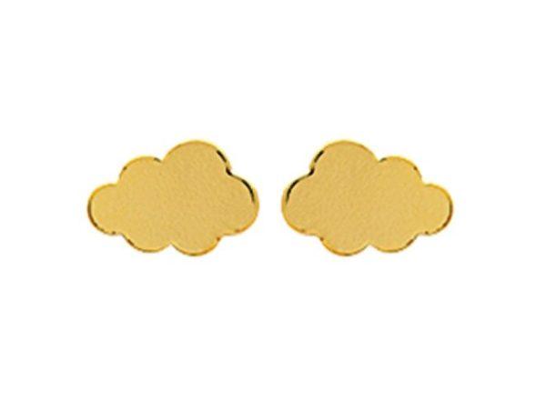 Montebello Oorbellen Mespilus Gold - Dames - 925 Zilver Verguld - Wolk - 8 x 5 mm-0