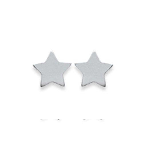 Amanto Oorbellen Finia Small - Dames - Zilver Gerhodineerd - Ster - 5x5 mm-0