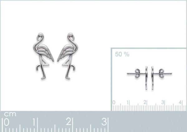 Amanto Oorbellen Fiza - Dames - 925 Zilver Gerhodineerd - Flamingo - 8x13 mm-24081