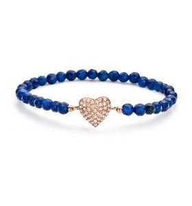 Montebello Armband Wyona Blue - Dames - 925 Zilver Roséverguld - Zirkonia - Hartje - Rek-0