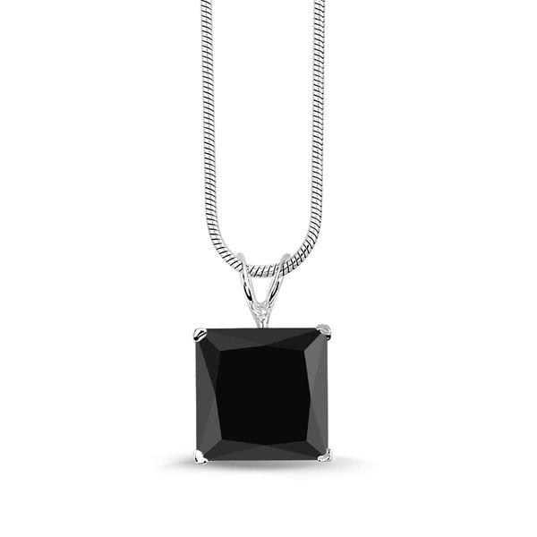 Montebello ketting Vana Black - Dames - Zilver Gerhodineerd - Zirkonia - 10x10 mm - 42 cm-0